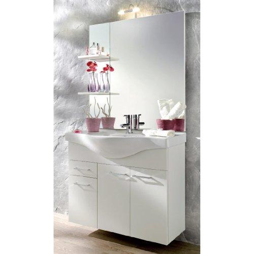 Posseik Aero Waschplatz inkl. Keramikbecken ohne Beleuchtung in Weiß