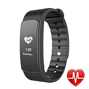 Fitness Tracker with Heart Rate Monitor, Lintelek Activity Tracker Sleep Monitor Bluetooth Pedometer Calories Tracker Smart Wristband Watch Bracelet for Android iOS