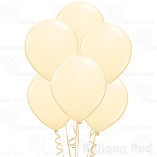 10 Inch Latex Balloons (Premium Helium Quality), Pack of 100, (Cream Filled Halloween Cupcakes)