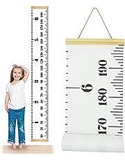 لوحة جدارية على شكل مقياس نمو الطفل من وان إيه أب، شريط قياس الارتفاع للأطفال - لوحة قماشية قابلة للإزالة قابلة للطي 20 سم × 19 سم، باللون الأبيض