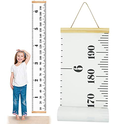 - ONYADD Baby Growth Chart Handing Ruler Wall Decor for Children Height Record Talltape for Kids Nursery Room Canvas Removable Roll Up 79