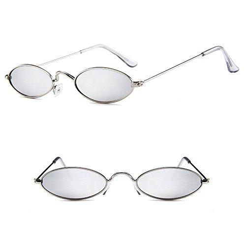 Silver Sol Mujeres Colores Ojo Grey Marco Lens de Gafas ovaladas de Fram de Gato Gold Gafas para Delgado pequeñas de Sol Metal Metal ovaladas de FOONEE Lens Caramelos Hombres de Retro Silver Fram Metal zHCEqp1n