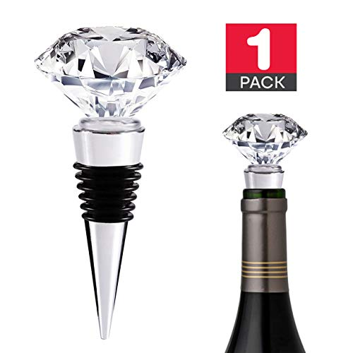 (Decorative Crystal Wine and Crystal Wine Stoppers Decorative Metal Wine Stopper with Gift)