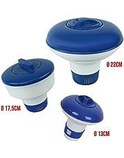 Linxor ® Dispensador de Cloro o de bromo flotante ajustable - Dos modelos diámetro 17.5 o 22 cm - Norma CE