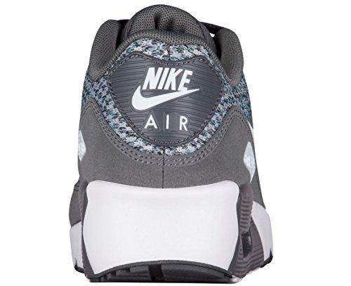 Nike Air Max 90 Ultra 2.0 Se (gs) Grote Kinderen 917989-002 Donkergrijs / Gletsjer Blauw-zwart