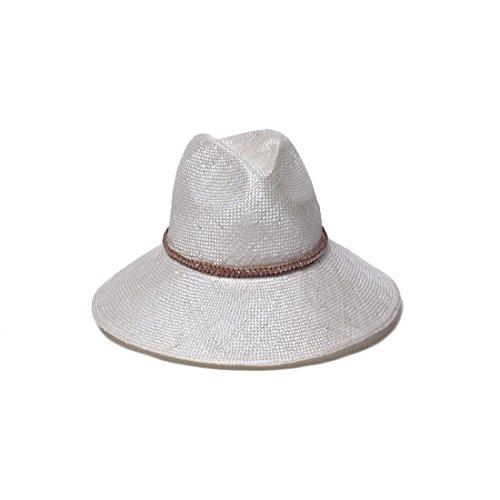 Ecru Pearl - Gottex Women's Kira Pearl Hemp Straw Hat, Ecru, One Size