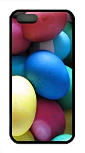 Colorful Easter Eggs 1 pc Case Cover for iPhone 5 and iPhone 5s ¡§C Black