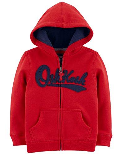 OshKosh B'Gosh Boys' Toddler Full Zip Logo Hoodie, Jalapeno red, 5T from OshKosh B'Gosh