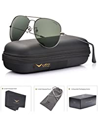 Men Aviator Sunglasses Polarized - UV 400 Protection with case 60MM Classic Style