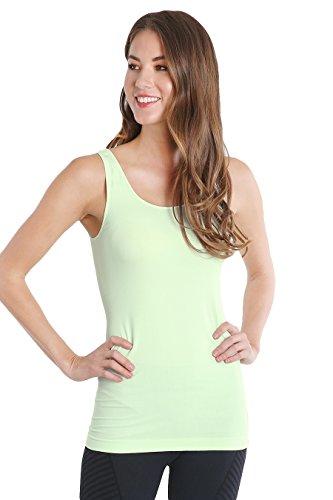 Nikibiki Seamless Womens Plain Jersey Tank Top, One Size (Sweet Mint)