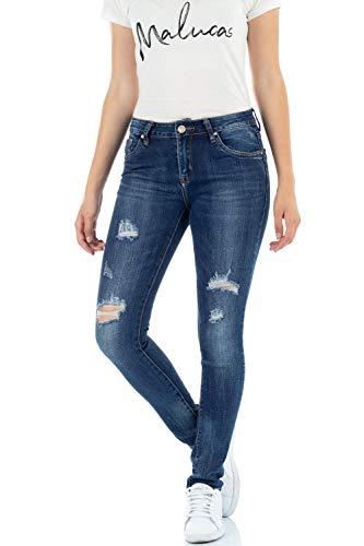Bleu Bleu Skinny Bleu Femme Jeans malucas wtI5qp8x