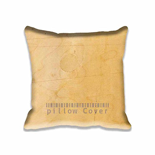 Dwelling-place Square Cotton Polyester Cushion Covers Wood Work Nature Pattern Texture Decorative Pillow Cases with Concealed Zippered Custom Throw Pillow Cover for Sofa Couch Bed 16X16inch