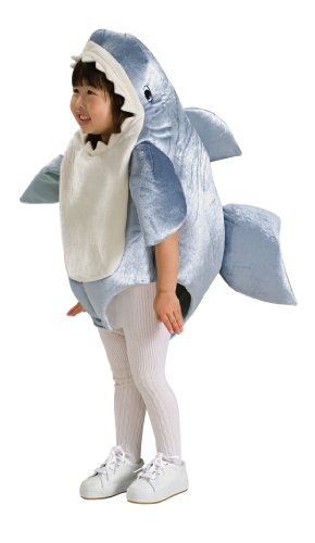 Toddler Girl Fish Costume (Rubie's Costume Co Unisex-Child Deluxe Shark Romper Costume, Gray, 12-24 Months)