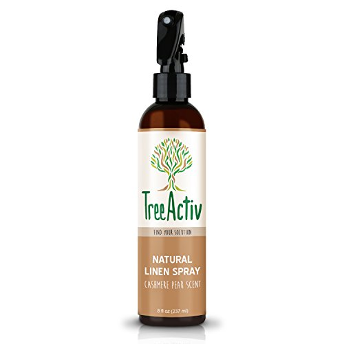 Fabric Pear (TreeActiv Natural Linen Spray | Kills Acne Causing Bacteria | Eliminates Odors | Fabric, Bedding, Clothing, Carpet & Furniture Refresher | Relaxing Cashmere Pear Scent (8 fl oz))