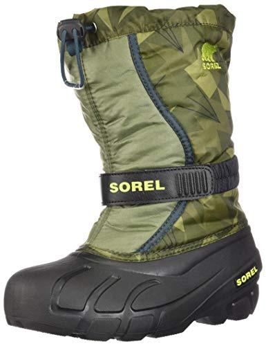 Sorel Youth Snow - SOREL Youth Flurry Print Snow Boot (5 M US Big Kid)