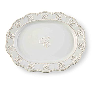 Mud Pie  C  Intial Oval Serving Platter