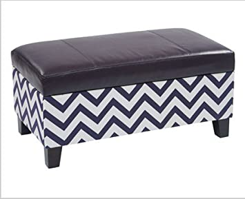Enjoyable Zig Zag Storage Ottoman Navy By Office Star Products Amazon Ocoug Best Dining Table And Chair Ideas Images Ocougorg