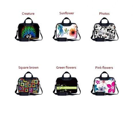Amazon.com : MySleeveDesign Calepin Cartable Portable Sac à bandoulière Ordinateur portable 13, 3 pouces / 14 pouces / 15, 6 pouces / 17, ...