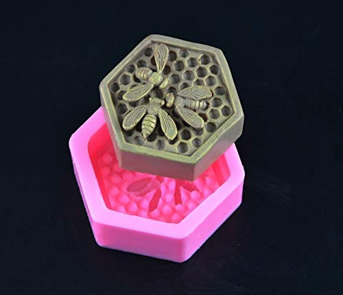 ne Soap Molds Fondant Chocolate Cake Mold Resin Clay Candle Moulds DIY Kitchen Baking Cake Tools ()