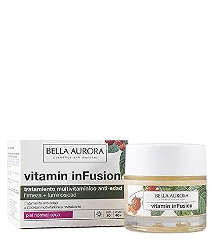 Bella Aurora Vitamin Infusion, Tratamiento Anti-Edad, Ilumina, Unifica el Tono y Atenúa las Arrugas, Anti-Polución, para Piel Normal-Seca, 50 ml: Amazon.es: Belleza