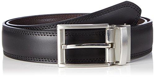 MLT Belts & Accessoires Herren Wende-Gürtel Milano, Gr. 90 cm, Mehrfarbig (Black Brown 1043)