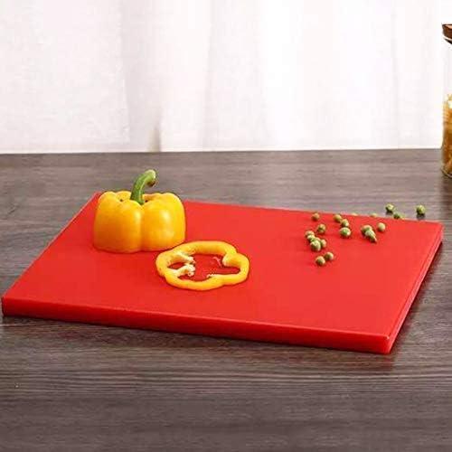 Lnspirationalギフト装飾アクセサリーヘビーデューティプラスチックまな板キッチンまな板ナイフフレンドリーな彫刻ボード肉屋ブロック赤54x35cm / 21.2x13.7in
