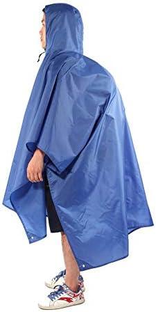 レインコート 多目的バックパックレインコートポンチョ登山レインコートは、防湿マットとして使用することができます (色 : ブラック)