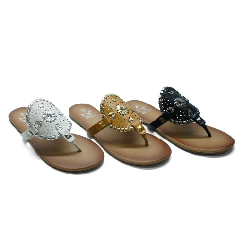 Betani Amanda-18 Sandalo Da Donna Infradito Semplice Intrecciato Su Infradito Sandalo Infradito, Colore: Bianco, Dimensione: 5,5