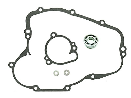 (Outlaw Racing OR4536 Complete Water Pump Rebuild Repair Kit w/Bearing Shaft Gasket Seal- KAWASAKI KX100 1995-2017 KX80 1989-2000 KX85 2001-2017)