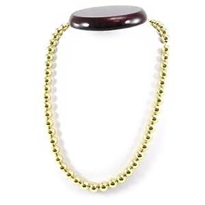 Collar plateado oro 'Billes' 45 cm de 8 mm.