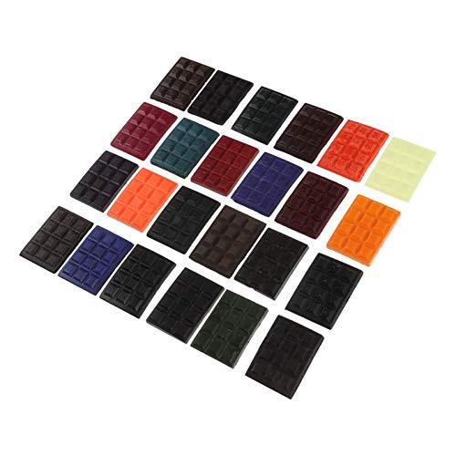 EXCEART 1 Set 24 Kleuren Diy Soja Kaars Dye Cube Kleuring Voor Unieke Soja Kaarsen Geurkaars Maken Kleur Chip