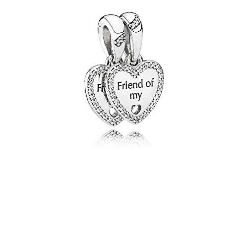 Pandora Sterling Silver Hearts of Friendship Dangle Charm 792147CZ