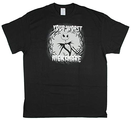 Seven Times Six Nightmare Before Christmas Shirt Men's Your Worst Nightmare T-Shirt (Small) Black -