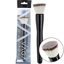 Premium Quality Professional Make Up Artists Cosmetics Wooden Handle Synthetic Hair Flat Powder Brush By VAGA