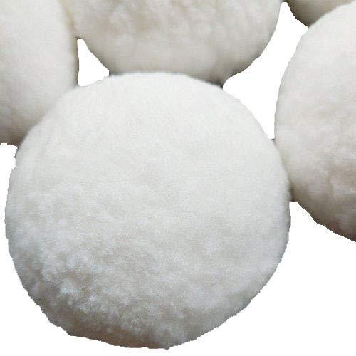 Chenkou Craft 5PCS White Soft Pom Poms Pompoms Balls Bobbles DIY Craft Card Ball Making Decoration Indoor Outdoor Snowball Fight Dec3 (75mm)