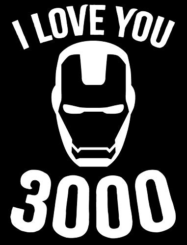 Creative Concepts Ideas I Love You Three Thousand 3000 Ironman CCI Decal Vinyl Sticker|Cars Trucks Vans Walls Laptop|White|5.5 x 3.8 -