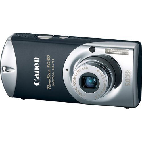 Canon Powershot SD30 5MP Digital Elph Camera with 2.4x Optical Zoom (Tuxedo - Sd30 Canon Powershot