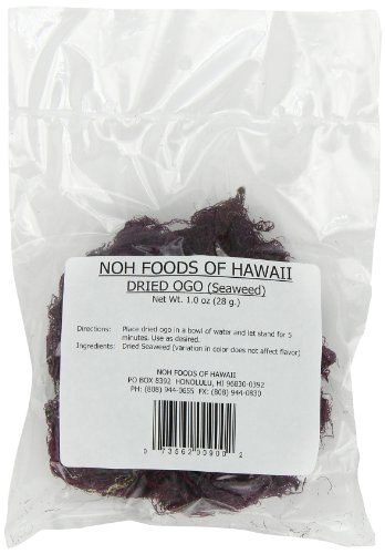 NOH Foods of Hawaii Dried Hawaiian Ogo Seawood For Poke, 1 ()