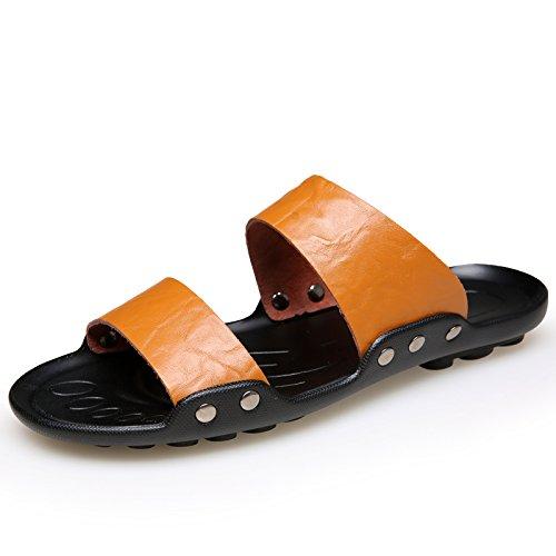 Xing Lin Sandalias De Hombre Zapatillas De Gran Tamaño 50 Hombres Verano Indoor Plus 47 Fertilizante Engrosada Cruz 48 Cool Zapatillas 45 Home 49 Sobredimensionado Naranja 46,43,335