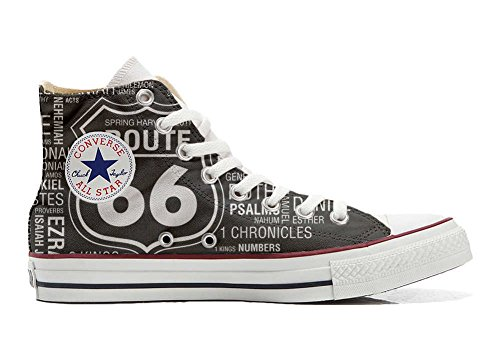 Converse All Star personalisierte Schuhe - HANDMADE SHOES - Route 66 Black