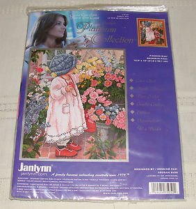 The Janlynn Platinum Collection - Counted Cross Stitch Kit - Sweet Pea - 12.5