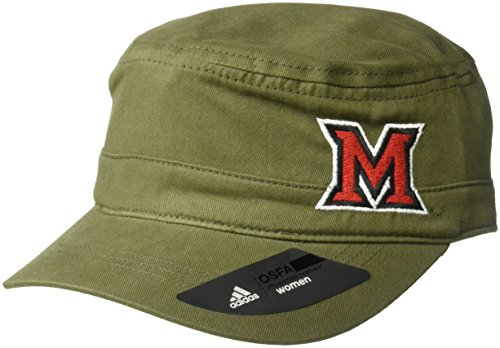 adidas NCAA Miami (Ohio) Redhawks Adult Women Army Green Military Hat, One Size, Olive ()