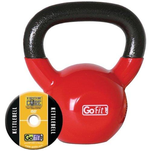 Cheap GoFit GF-KBELL15 Kettelbell & Iron Core Training DVD (15 Lbs, Red)