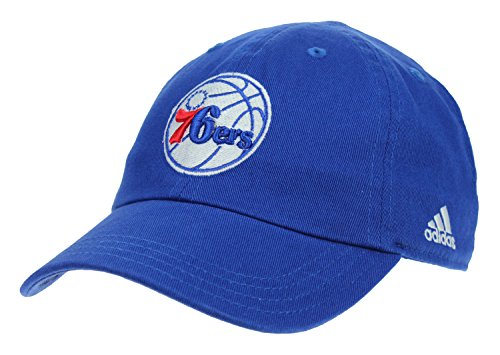 Philadelphia 76ers Adjustable Slouch Strap Cap, Blue (Adidas Nba Team Slouch Cap)