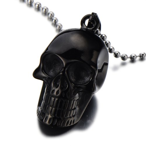 Gothic Pendant Stainless Necklace Polished