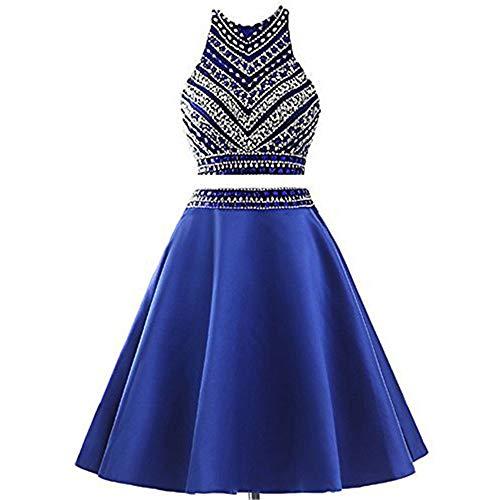 Printemps Mode Fengbingl De Femme Us18 Robe Bleu À Bleu Soirée Automne Pour Taille Sexy La Perlée couleur CwAvqwXrx