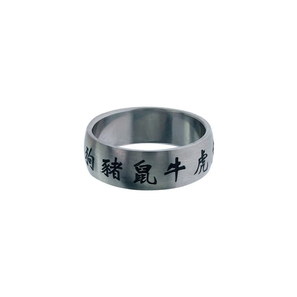 Inox Jewelry Womens Chinese Zodiac Symbols 316L Stainless Steel Ring