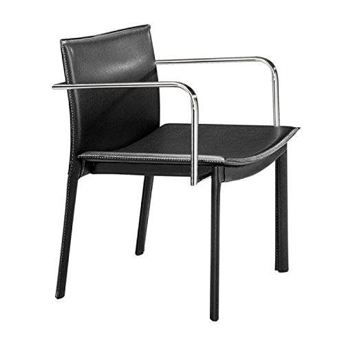 Zuo Dining Room Chairs, Black Gekko Eclectic Design Modern Conference Chairs, Set of ()