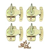 CGMJ 4 Pack Table Buckle Dinning Table Locks Connectors Hardware Accessories (Gold)