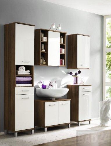Günstige badezimmermöbel  günstige Badmöbel von Bad 24, Komplett Badmöbelset Maximus Hochgl ...